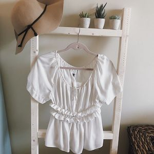 Anthropologie HD in Paris White Blouse